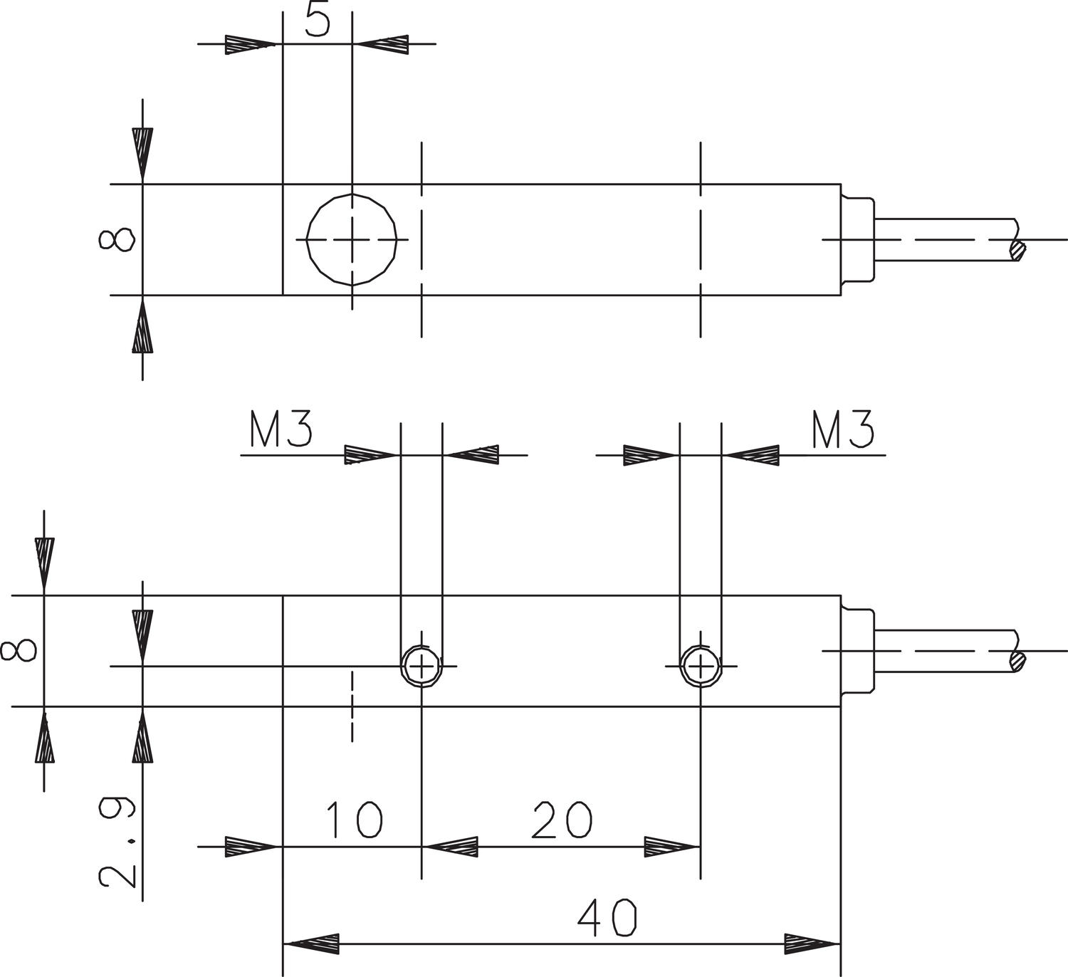 Magnetic sensor dimensions mechanical electrical output. Image 6.