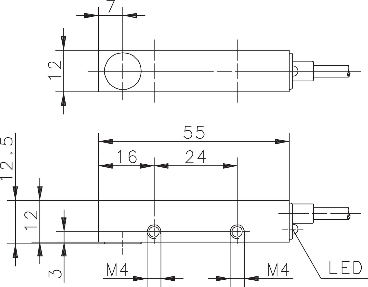Magnetic sensor dimensions mechanical electrical output. Image 7.