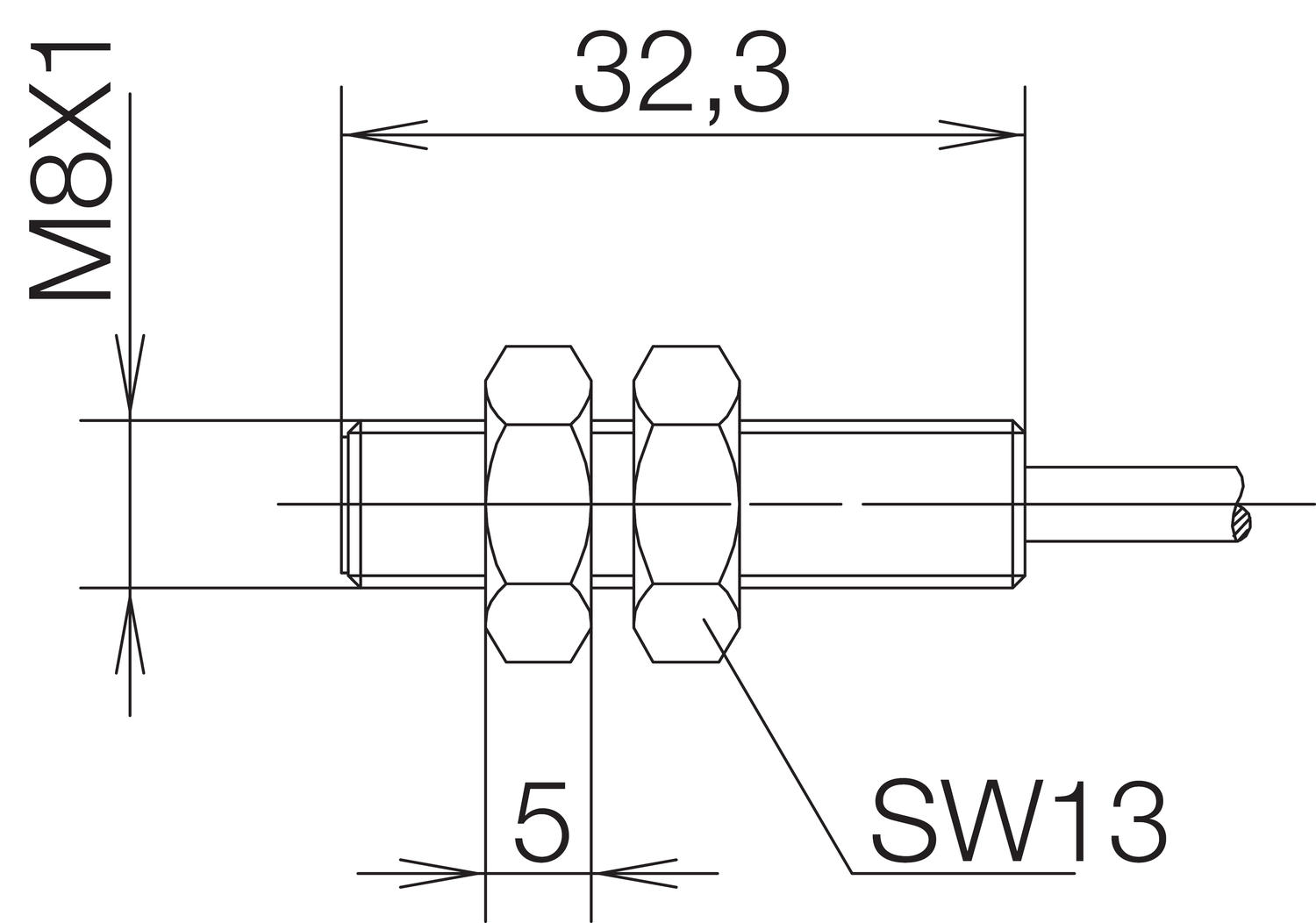 Magnetic sensor dimensions mechanical output. Image 1.