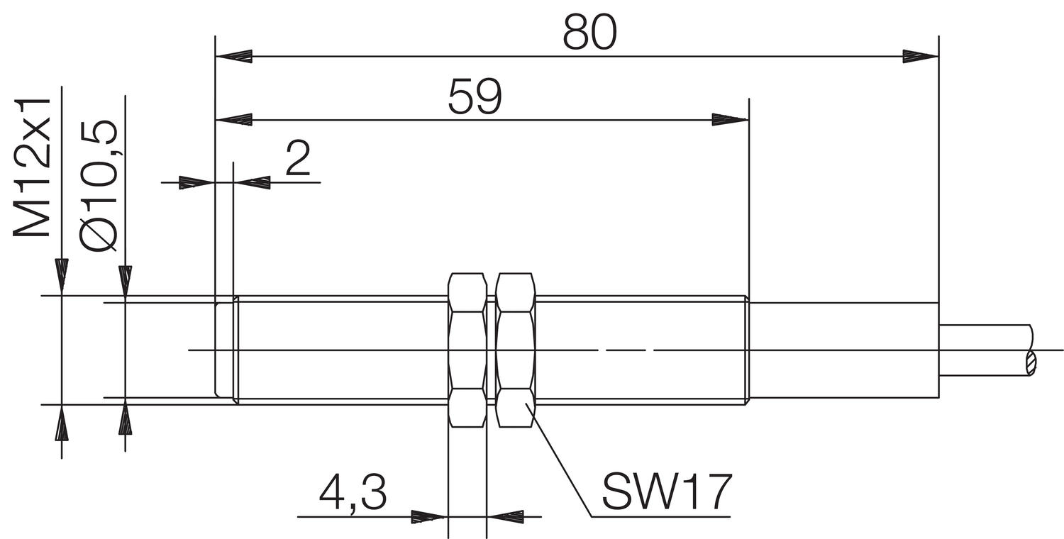 Magnetic sensor  dimensions mechanical output. Image 2.