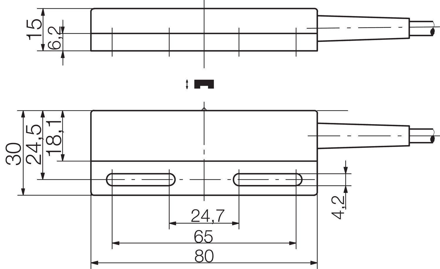 Magnetic sensor dimensions mechanical output. Image 7.